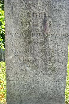 Abia Webster Watrous' Grave
